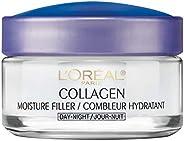 L'Oreal Paris Collagen Moisture Filler Day and Night Cream, Anti Aging Face Moisturizer, Reduces Fine Line