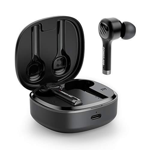 POWERADD Kopfhörer Bluetooth 5.0 Sport Kopfhörer In-Ear Ohrhörer Kabellose Ohrhörer mit Ladekästchen,5-stündige Spielzeit Headsets für Handy/Sport/Laufen/Android/IOS/Yoga