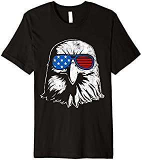 4th Of July American US Eagle Flag  | Cute Bird Gift T-shirt | Size S - 5XL