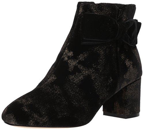new Spotted Black kate spade Langley Ankle Women's york Gold Boot vTCq5