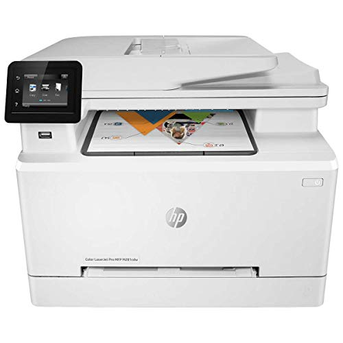 HP Laserjet Pro M281cdw All in One Wireless Color Printer, Scan, Copy and Fax with Ease with Bonus of 30 Sheets of HP Brochure Paper (T6B83A) – Premier Edition