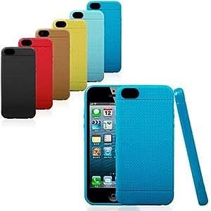 HC-Malla flexible diseño TPU estuche protector para el iphone 5 / 5s (colores surtidos)