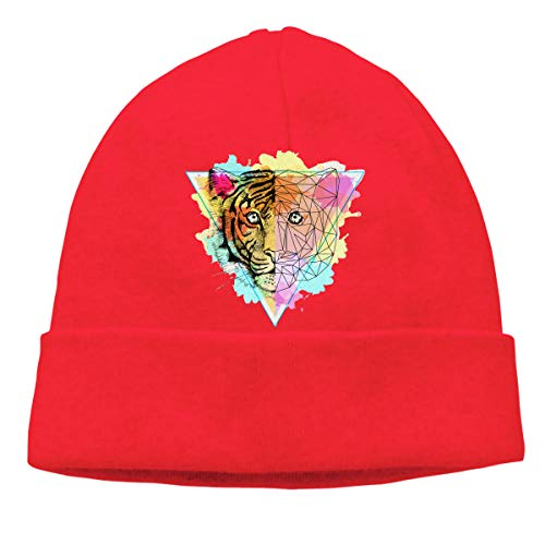 Knit Skull Caps Beanies Hat Abstract Art Tiger Stretchy Warm Winter Outdoor Unisex