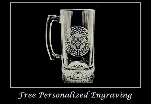 Celtic Wolf 27oz Stein- Free Personalized Engraving by LyonCraft