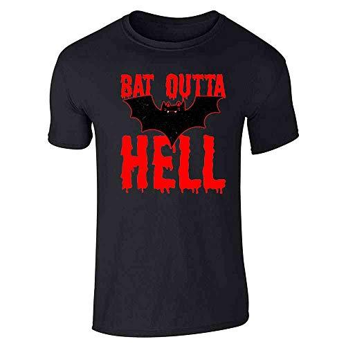 Pop Threads Bat Outta Hell Horror Halloween Black L Short Sleeve T-Shirt]()