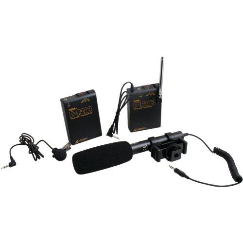 (Azden WHD-PRO Wireless/Shotgun Microphone Audio Kit for DSLR (Black))