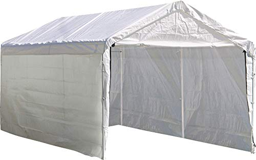 ShelterLogic Super Max 12 ft. x 20 ft. White Canopy Enclosure Kit, Canopy and Frame Sold -
