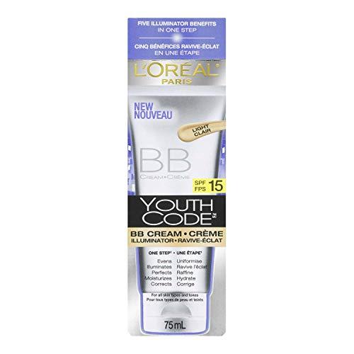 LOreal Youth Code BB Cream Illuminator SPF 15, Light, 2.5 fl