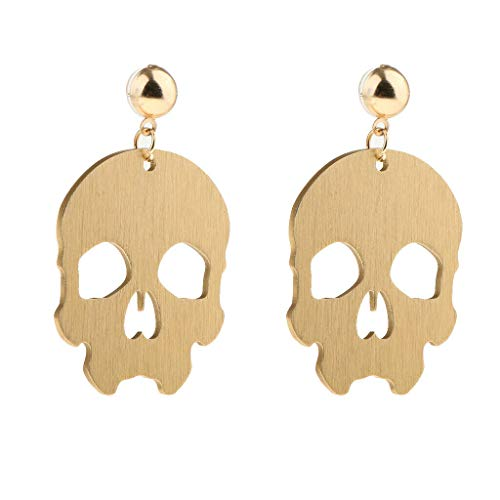 (Goth Punk Rock Skull Head Halloween Xmas Charms Cosplay Earring Jewelry Necklace Jewelry Crafting Key Chain Bracelet Pendants Accessories Best)
