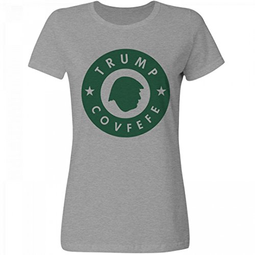 Drink Trump Brand Covfefe: Misses Relaxed Fruit of the Loom T-Shirt