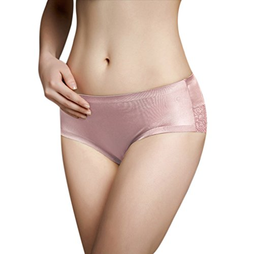 FakeFace Sexy Women Lace Seamless Panties Cheeky Hipster Underwear Briefs Pink