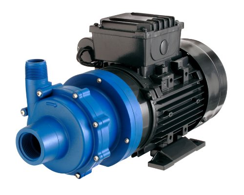 Finish Thompson DB5.5P-M616 Centrifugal Magnetic Drive Pump, Polypropylene, 1/2 HP, 115V, 1 Phase, 31.0 Max Feet of Head, 30.0 gpm