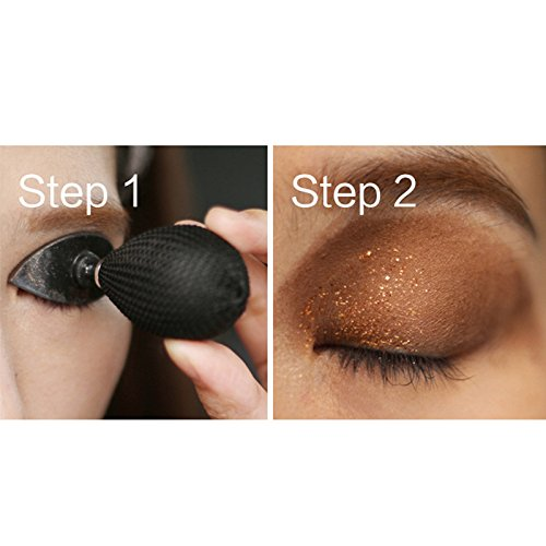 As Seen-On-TV,SunTree 2018 Lazy Eye Shadow Applicator Silicon Eyeshadow Stamp Crease Popular (Black)