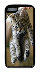 for iphone 4/4s Case Baby Kitten 2 Animal TPU Custom for iphone 4/4s Case Cover Black