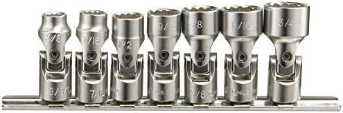 Astro Pneumatic 7pc SAE 1//4dr universal socket set