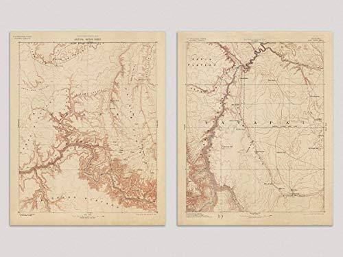 Amazon.com: Vintage Grand Canyon Map, Fine Art Prints, 1903 ...