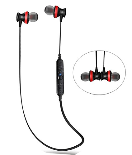 Bluetooth Headphones, InaRock Magnet Attraction V4.0 Wireless Bluetooth Stereo Earphones In-Ear Headphones Earbuds with Microphone for Sports Earpiece - Sweatproof Headset>