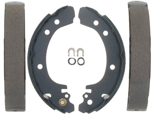 (ACDelco 17637B Professional Bonded Rear Drum Brake Shoe Set )