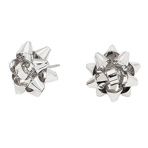 Christmas Gift Ribbon Stud Earrings 0.5