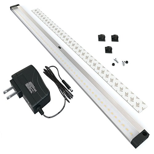EShine LED Under Cabinet Lighting, with IR Sensor! Extra Long 20 Inch Panel - Hand Wave Activated - Easy to Instal - Screws and 3M Sticker Options Included, Warm White