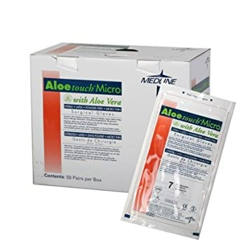 MSG2765 - Aloetouch Micro Latex Powder-Free Surgical Gloves,Brown,6.5