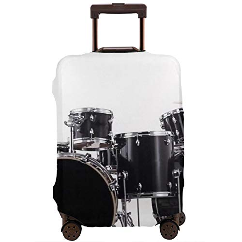 Yuotry Travel Luggage Cover - Professional Drum Zipper Suitcase Protector Luggage with Fixed Buckle Fits 18-32 Inch Luggage M]()