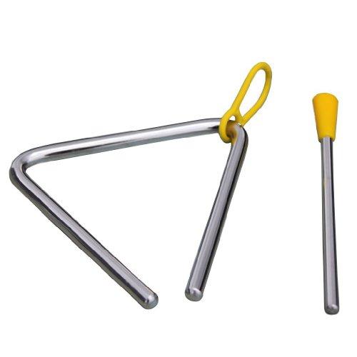 """SODIAL(R) Jouet d'Enfants Instruments de musique ¨¤ percussion Triangle d'alliage 3,9"""" x 3,6"""" Education pr¨¦scolaire"""