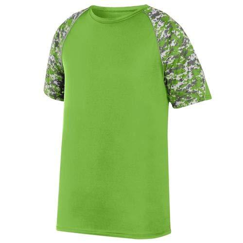 Lime Green Jersey - Augusta Sportswear Men's Color Block Digi Camo Jersey, Lime/Lime Digi/Silver, Large