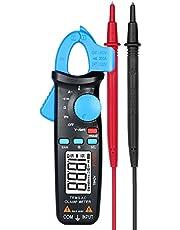 Romacci Alicate Amperímetro digital AC 2.000 contagens Multímetro portátil True RMS portátil que mede a tensão AC/DC Resistência de corrente AC Testador de temperatura com diodo de continuidade c/clipe traseiro e luz de fundo
