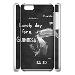 Design Cases iphone6 Plus 5.5 3D Cell Phone Case White GUINNESS Pppxu Printed Cover