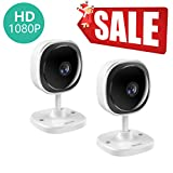 [FULL HD]1080P Security WiFi Camera,180 degree Panoramic Wireless IP Camera with Motion Detection,Two-Way Audio,Free App,Cloud Storage,Indoor Surveillance Camera for Home/Office/Baby/Pet Monitor,2 PCs