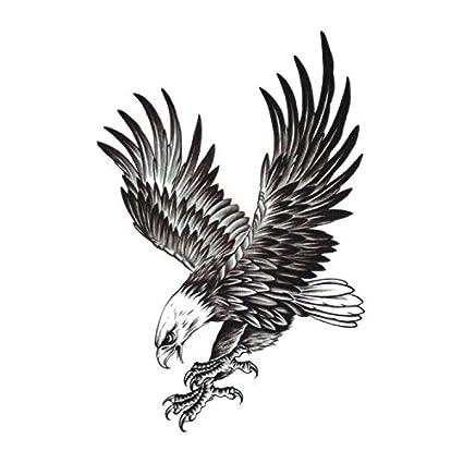 Amazoncom Temporary Tattoos Large Animal Flying Eagle