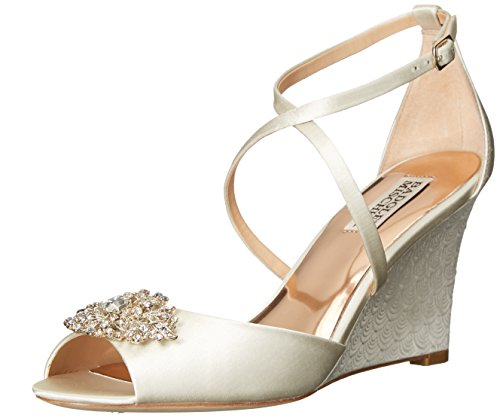 Women's Badgley Mischka 'Abigail' Peep Toe Wedge, Size 8.5 M