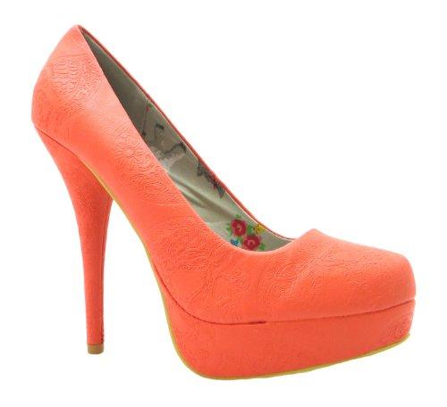 femme Plat pour Iron Fist Orange orange Escarpins Maneater x1qEXCwU