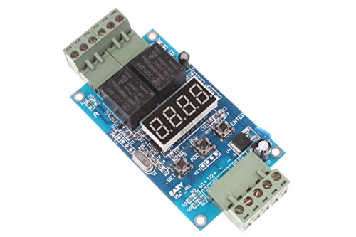 (NOYITO 30-Step Programmable Time Relay Control Board Multi-Segment Setting ON Off Switch Multi-Group Timing 2-Channel Control Board (24V))
