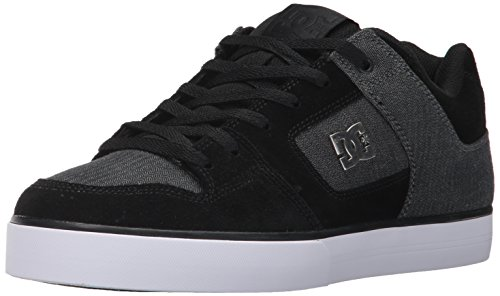 DC Shoes Men's Pure Se Skateboarding Shoe Black/Charcoal Que0uM