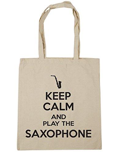 Shopping Gym and Natural x38cm Play Keep Beach HippoWarehouse 10 42cm Tote litres the Saxophone Calm Bag q8BWFZx0