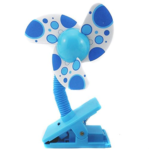 Sealike Battery Powered Cute Baby Clip-on Mini Stroller Fan Cute Crib Cooling Fans with Stylus