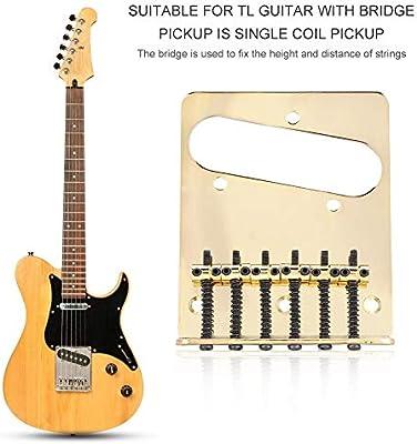 Dilwe Telecaster Guitarra Puente, Metal Puente de Guitarra con ...