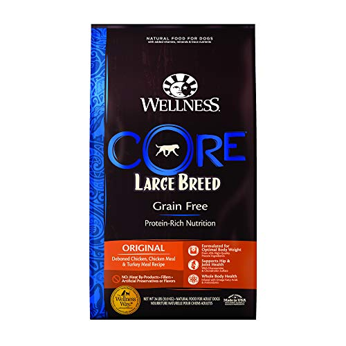 Wellness CORE Natural Grain Free Dry Dog Food, Large...
