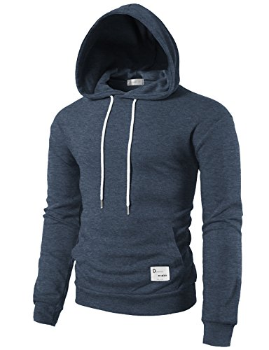 H2H+Mens+Mexican+Style+Baja+Hoodie+Pullover+Poncho+Sweatshirts+Of+Various+Colors+HEATHERNAVY+US+L%2FAsia+XL+%28KMOHOL0118%29
