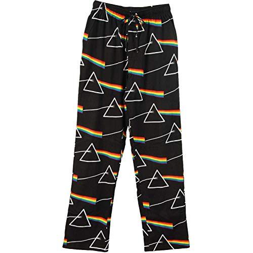 (Pink Floyd Unisex-Adult DSOTM Prism Stack Pant Lounge Pants X-Large Black)