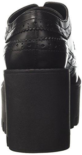 Windsor Smith Femmes Stringata Foxy Ws En Pelle Nera Noir