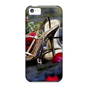 MMZ DIY PHONE CASEiphone 5/5s Case, Premium Protective Case With Awesome Look - Evening Shoes And Red Roses