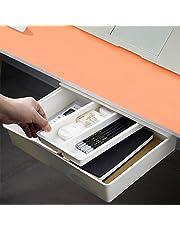 Self-Adhesive Under Desk Drawer [Large], Desk Pencil Drawer Organizer Under Desk Storage for Office/School/Student/Kitchen, White