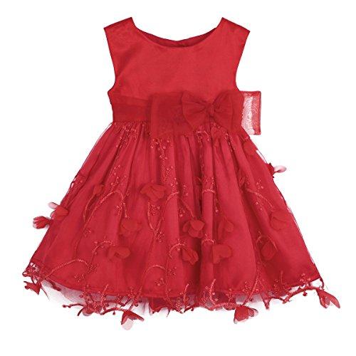Freebily Vestido de Princesa Bautizo Fiesta para Bebé Niña Vestido Infantil Elegante Flores de Cumpleaños: Amazon.es: Ropa y accesorios