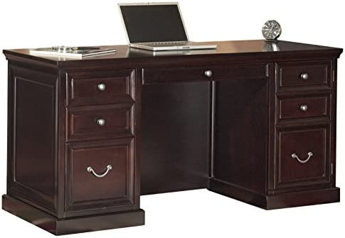 Martin Furniture Fulton 61 Space Saver Double Pedestal Desk – Fully Assembled