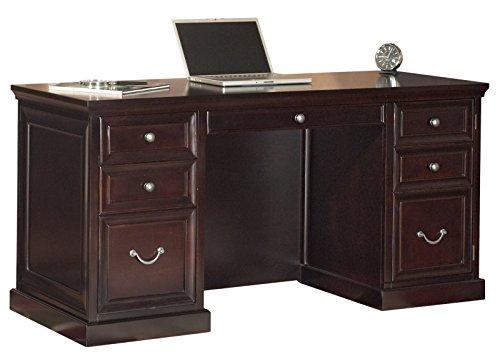 Martin Furniture Fulton 61 Space Saver Double Pedestal Desk – Fully Assembled