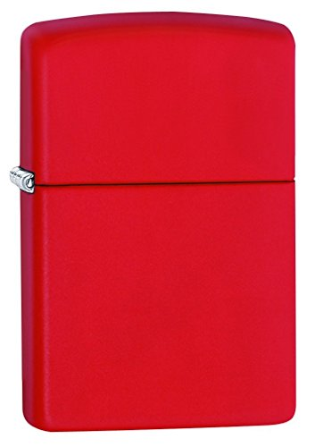 Zippo Red Matte Lighter - 233 - Zippo Red Matte