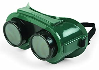 Sellstrom 85250 PVC Indirect Vent Lens Cover Welding Goggle Body, 50mm Diameter Shade 5 IR Lens, Green